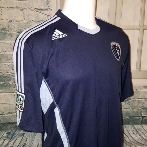 premium selection 1b8e1 eae63 Adidas Sporting KC MLS Replica Jersey NWT